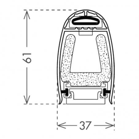 Palpeur résistif 61mm lg 2m avec radio