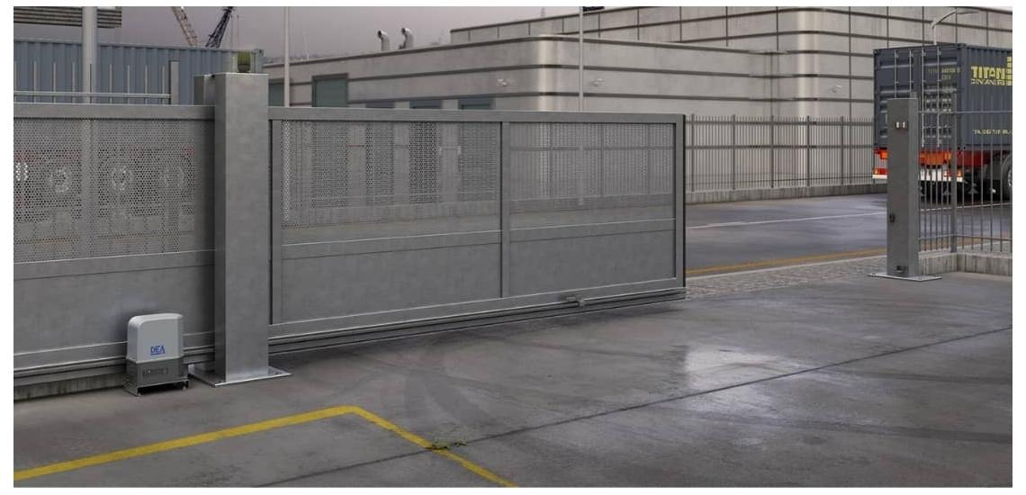 Motorisations et accessoires de portail coulissant | DEA | Diferbat